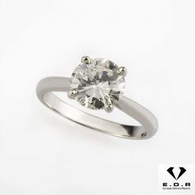 Round Brilliant Cut Diamond Ring in Platinum 2.00ct I/VS2